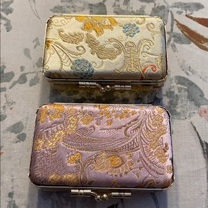 🌸Pair of Silk Compact Cases